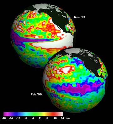 sst events from el nino and la nina