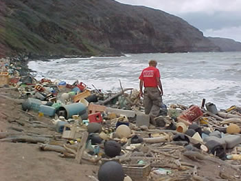 Marine Debris on Hawaiian coast